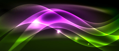 Neon light abstract waves template Banque d'images - 122717965