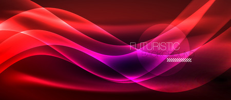 Neon light abstract waves design Banque d'images - 122656496