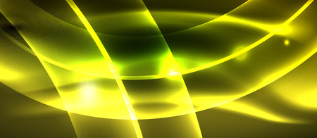 Neon light abstract waves design Banque d'images - 122656500