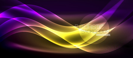 Neon light abstract waves design Banque d'images - 122656502