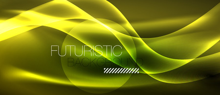 Neon light abstract waves design Banque d'images - 122656504