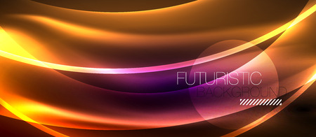 Neon light abstract waves design Banque d'images - 122656514