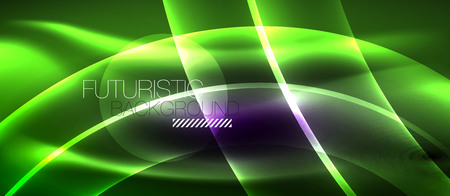 Neon light abstract waves design Banque d'images - 122660001