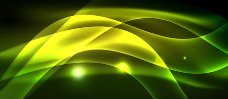 Neon light abstract waves design Banque d'images - 122660004