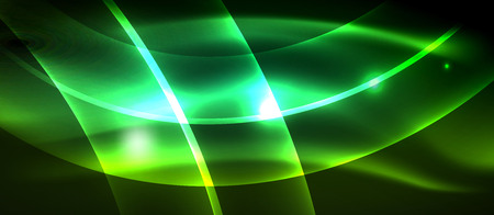 Neon light abstract waves design Banque d'images - 122586120