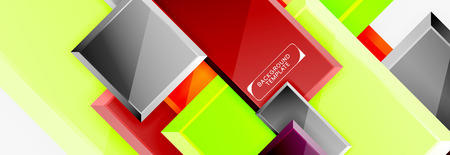 Minimal square banner abstract background, 3d modern effect