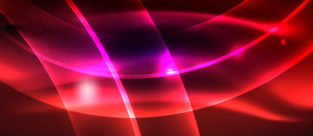 Neon light abstract waves design Banque d'images - 122586553