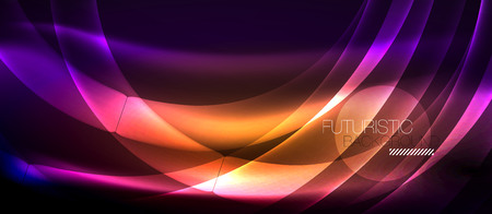 Neon light abstract waves design