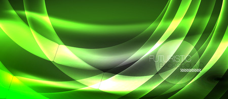 Neon light abstract waves design Banque d'images - 122590177
