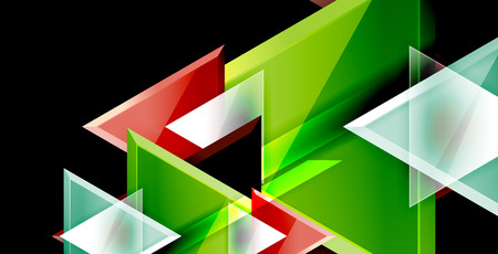 Dynamic triangle composition abstract background 矢量图像