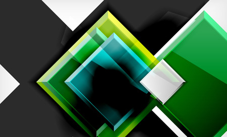 Color squares futuristic abstract background