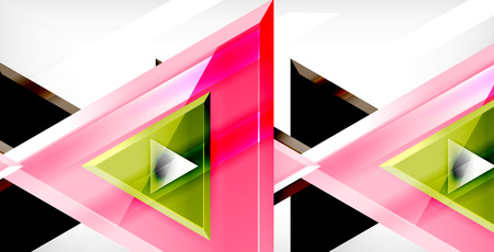 3d triangular vector minimal abstract background design, abstract poster geometric design  イラスト・ベクター素材