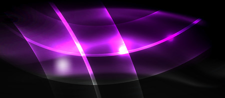 Neon light waves Ilustração