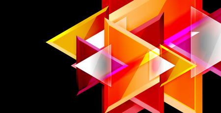 Dynamic triangle composition abstract background Ilustração
