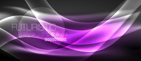 Neon light abstract waves design Banque d'images - 122434820