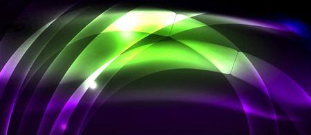Neon light abstract waves design  イラスト・ベクター素材
