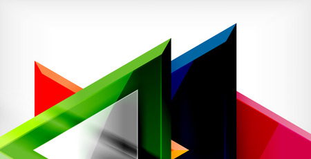 Dynamic triangle composition abstract background, vector illustration