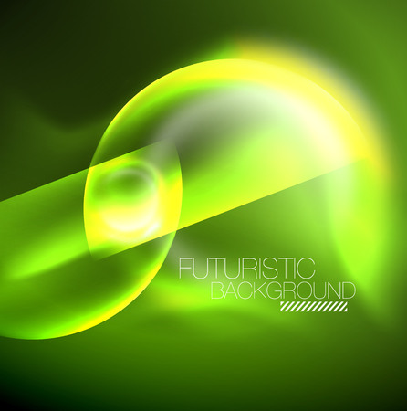 Vector glowing neon circles abstract background, modern template