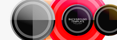 Abstract round geometric shapes, modern circles background Illustration