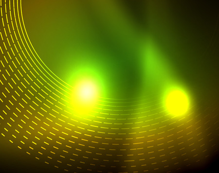 Shiny circles glowing abstract background. Vector illustration