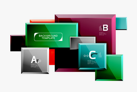 Minimal square banner abstract background Illustration