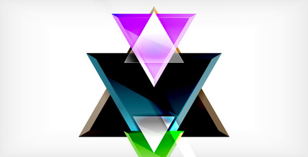 Dynamic triangle composition abstract background, vector illustration Vector Illustratie