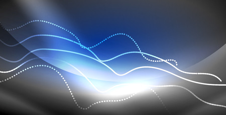 Neon lines shiny glowing background Illustration