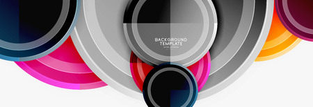 Circle geometric abstract background template for web banner, business presentation, branding, wallpaper Ilustrace