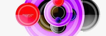 Circular pattern, abstract circles composition