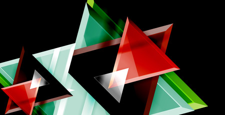 Dynamic triangle composition abstract background, vector illustration Иллюстрация
