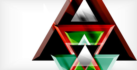 Dynamic triangle composition abstract background Illustration