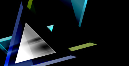 Triangle abstract vector background design