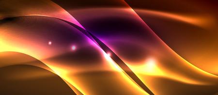 Neon light abstract waves design 写真素材 - 122346453