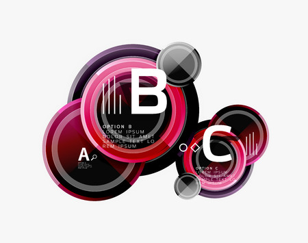Circle geometric abstract background template for web banner, business presentation, branding, wallpaper Illustration
