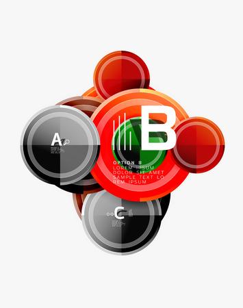 Abstract round geometric shapes, modern circles background. Vector illustration 版權商用圖片 - 122500974