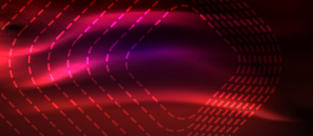 Glowing shiny neon squares abstract background, techno modern template, vector