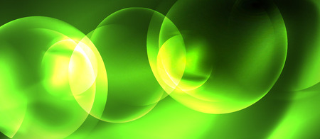Neon glowing circles vector abstract background, vector template