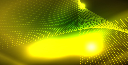 Shiny neon space background, vector template 向量圖像