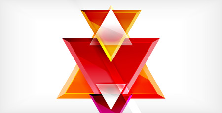 Dynamic triangle composition abstract background, vector illustration 向量圖像
