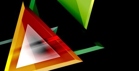 Dynamic triangle composition abstract background 向量圖像