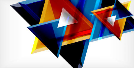Dynamic triangle composition abstract background Vector Illustratie