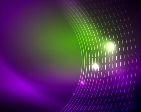 Neon circles abstract background Stock Illustratie