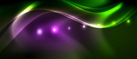 Glowing shiny light abstract background, vector template Ilustração Vetorial