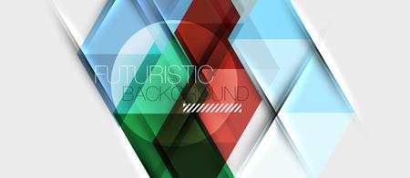 Triangle geometrical modern business presentation design template
