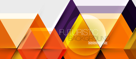 Bright color hexagon geometrical composition background, business presentation template Ilustracja