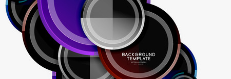 Abstract round geometric shapes, modern circles background Stock Illustratie