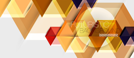 Geometric triangle and hexagon abstract background, vector illustration