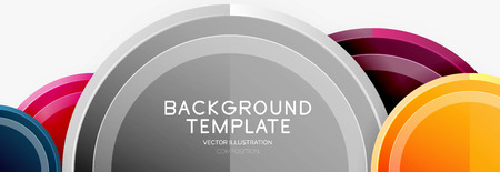 Circle geometric abstract background template for web banner, business presentation, branding, wallpaper Иллюстрация