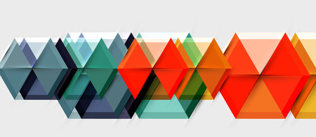 Bright color hexagon geometrical composition background, business presentation template  イラスト・ベクター素材