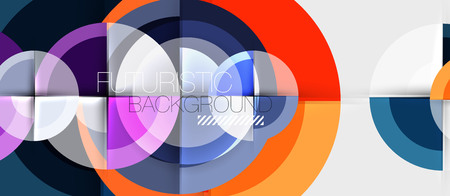 Circular geometrical design template